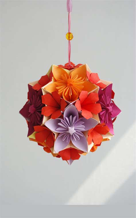 Origami Flower Arrangements - mobile flowers japan modern origami paper