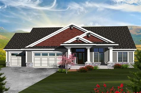 square feet of 3 car garage ranch style house plan 5 beds 3 baths 2898 sq ft plan