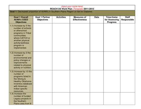 Best Work Plan Template best photos of professional work plan template