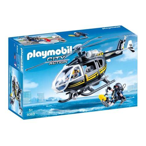 rubberbootje action playmobil 9363 city action h 233 licopt 232 re et policiers d