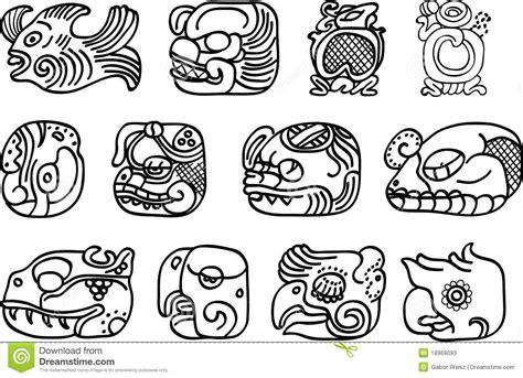 mexican aztec or maya motifs glyphs stock vector image