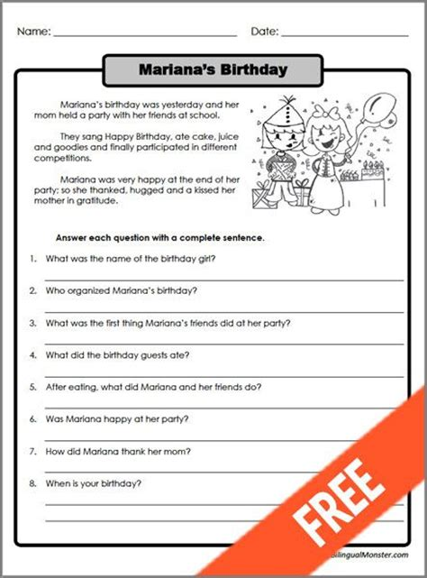 Second Grade Comprehension Worksheets And Printables by Printable Reading Comprehension Worksheets For 3rd Grade