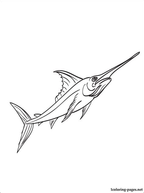 sword fish coloring sheets coloring pages