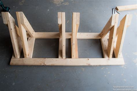 remodelaholic build a diy bike rack tutorial