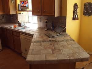 Tile Countertops Kitchen Home Improvement And Remodeling