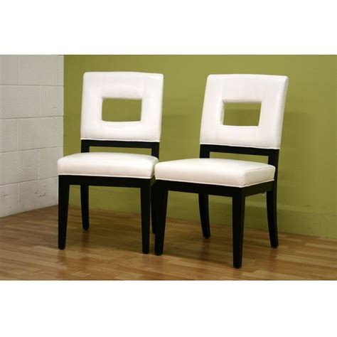 White Faux Leather Dining Chairs Baxton Studio Faustino White Faux Leather Upholstered