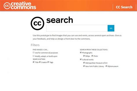 Free Search Engines Creative Commons Launches New Search Engine