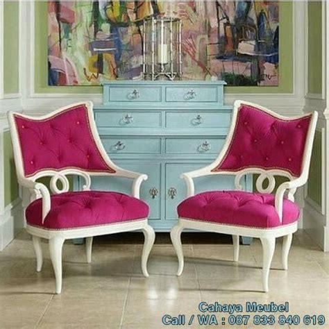 Kursi Keramas Putih Jok Warna Pink kursi cantik pink duco putih cahaya mebel jepara
