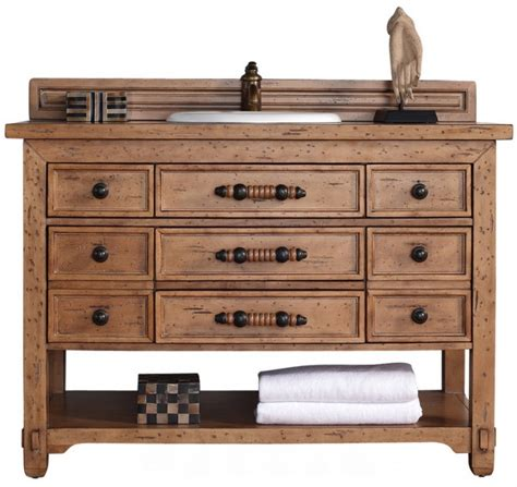 Solid Wood Vanities For Bathrooms 48 Inch Single Sink Bathroom Vanity Solid Wood Honey Alder Finish