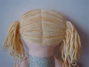 rag doll hair diy sewing how to make dolls hair 171 tantehilde be
