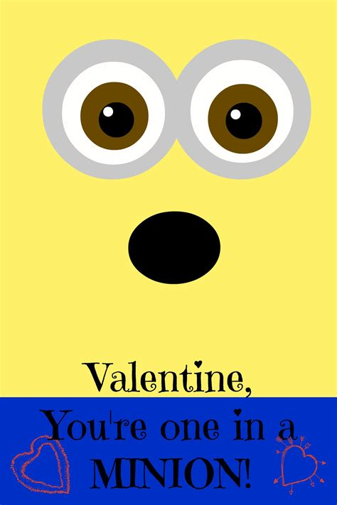 printable minion quotes image gallery minion valentine s
