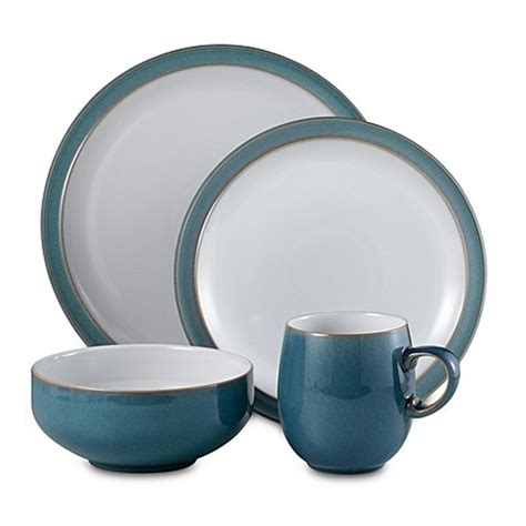 bed bath and beyond dinnerware buy denby azure 4 piece dinnerware place setting from bed