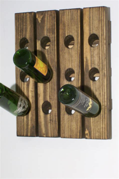 Wood Wall Rack by Wine Riddling Rack Wood Wall Mounted Wine Display