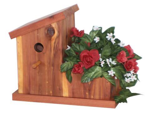 Birdhouse Planters by Cedar Flower Planter Wren Birdhouse