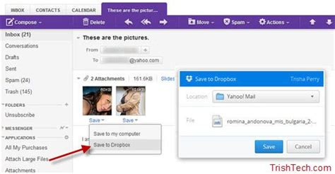 dropbox yahoo how to use dropbox in yahoo mail to share large files