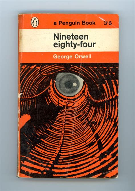 1984 nineteen eighty four penguin 97 nineteen eighty four george orwell 1984 book cover orange penguin eye books