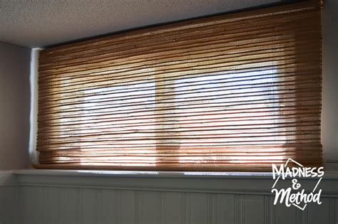 basement bamboo blinds diy hack madness method