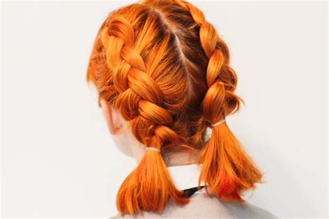 hair tutorial untuk rambut pendek inilah tutorial double dutch pigtails untuk rambut pendek