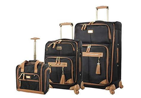 Steve Madden 3 Luggage Set by Steve Madden Luggage 3 Softside Spinner Suitcase Set Collection Harlo Black Luggagebee