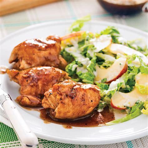 cuisiner haut de cuisse de poulet hauts de cuisses caram 233 lis 233 s 233 rable et ail soupers de