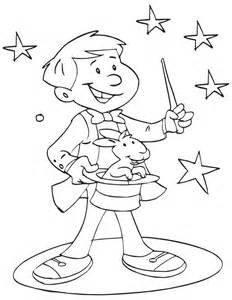magic coloring book a magician showing magic coloring page