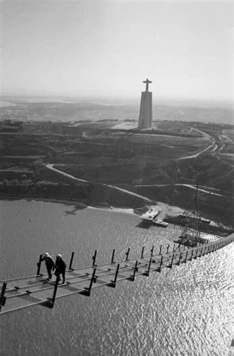 Construção da Ponte sobre o Rio Tejo (com imagens