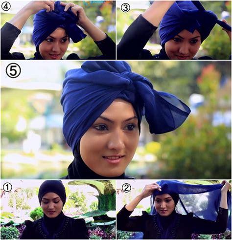 tutorial hijab paris turban pesta tutorial hijab paris turban untuk pesta yang mudah dan simple