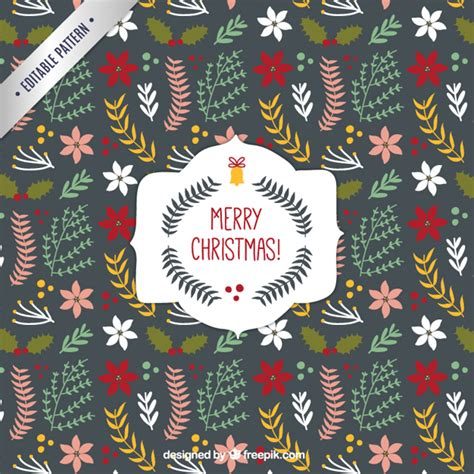 christmas patterns early years cute christmas floral pattern vector free download