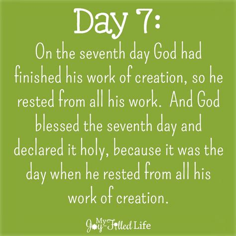 for day the days of creation lunch my filled