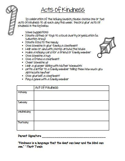 Kindness Worksheets by Free Acts Of Kindness Worksheet Service Project Ideas