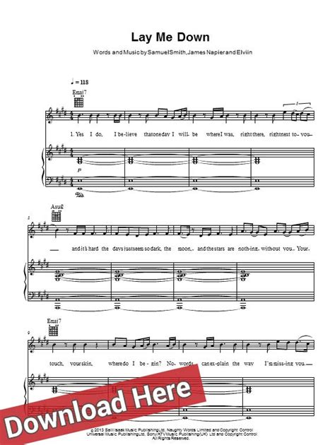 tutorial piano lay me down sam smith stay with me piano sheet music pdf free piano