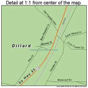 map of dillard dillard map 1322976