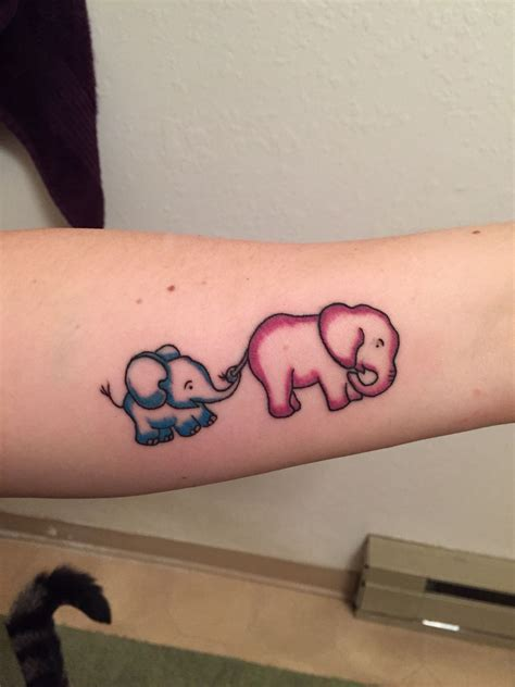 elephant mom and baby tattoo elephant ink me up baby