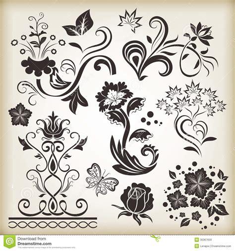floral design elements vector 20 vintage floral design images vintage floral design