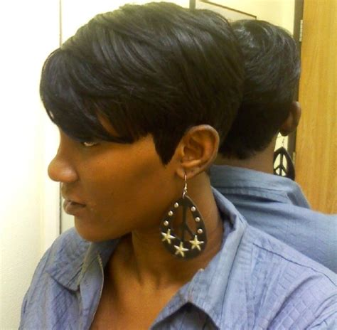 shondra s quick weave hairstyles short side view black