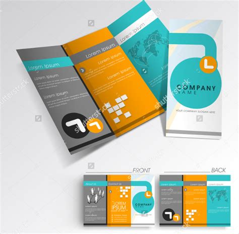 professional brochure templates folded brochure templates free premium
