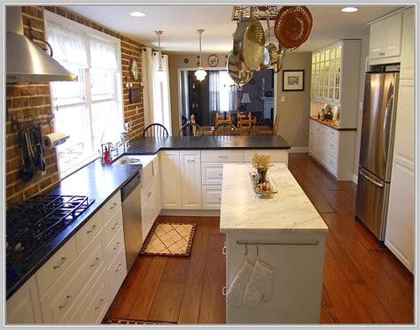 narrow kitchen design with island narrow kitchen island table home ideas