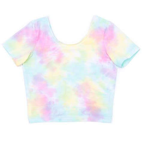 Pastel Bell Top pastel tie dye cropped top from apparel
