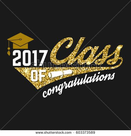 congradulations graduation card templates 2017 vector congratulations graduates class 2017 badge stock