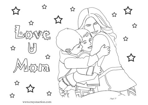 hard coloring pages for mother s day love u mom coloring page for mother s day crayon action