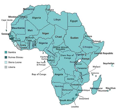 a clear africa map africa bird resources for bird by the