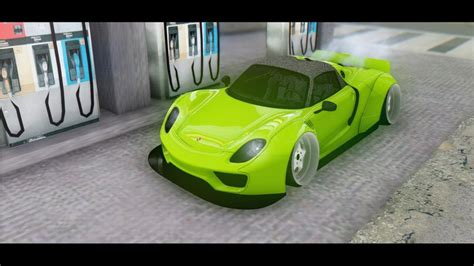 widebody porsche 918 gta san andreas 2015 porsche 918 spyder widebody mod
