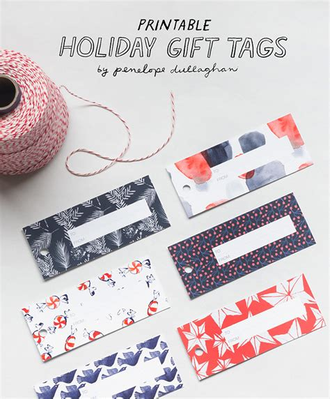 printable freebie holiday gift tags design sponge
