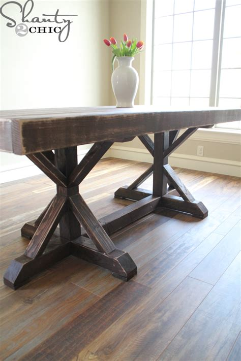 Diy Dining Tables Restoration Hardware Inspired Dining Table For 110 Shanty 2 Chic