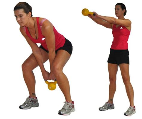 dumbbell swing through pick up your kettlebell for a fun workout