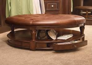 Gallery of luxury options of round coffee table ottoman