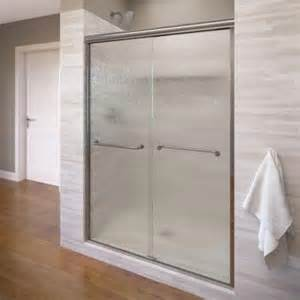 basco sliding shower doors basco infinity 58 1 2 in x 70 in semi framed sliding