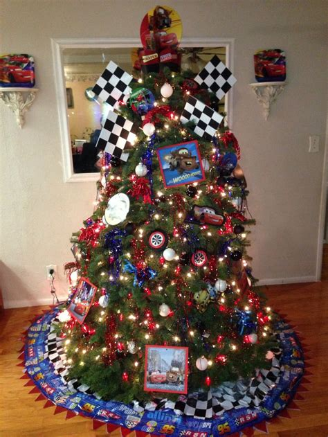 disney cars theme christmas tree disney cars pinterest