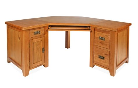 Small Oak Corner Desk Canterbury Oak Corner Desk