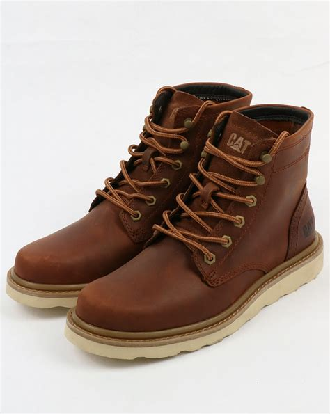 rugged shoes and boots caterpillar chronicle leather boots brown rugged durable shoes